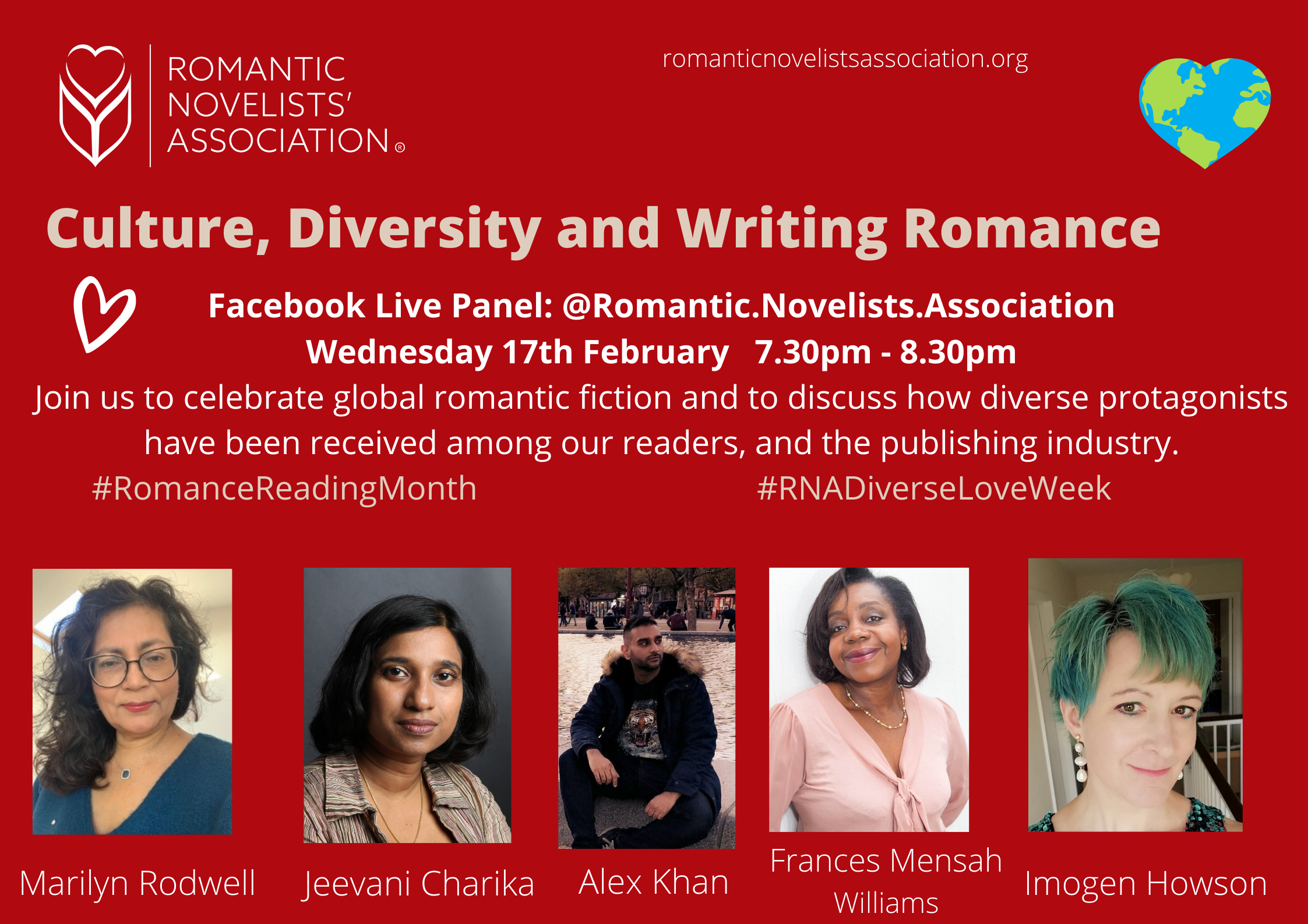 Culture and diversity in romance 17 Feb 7.30