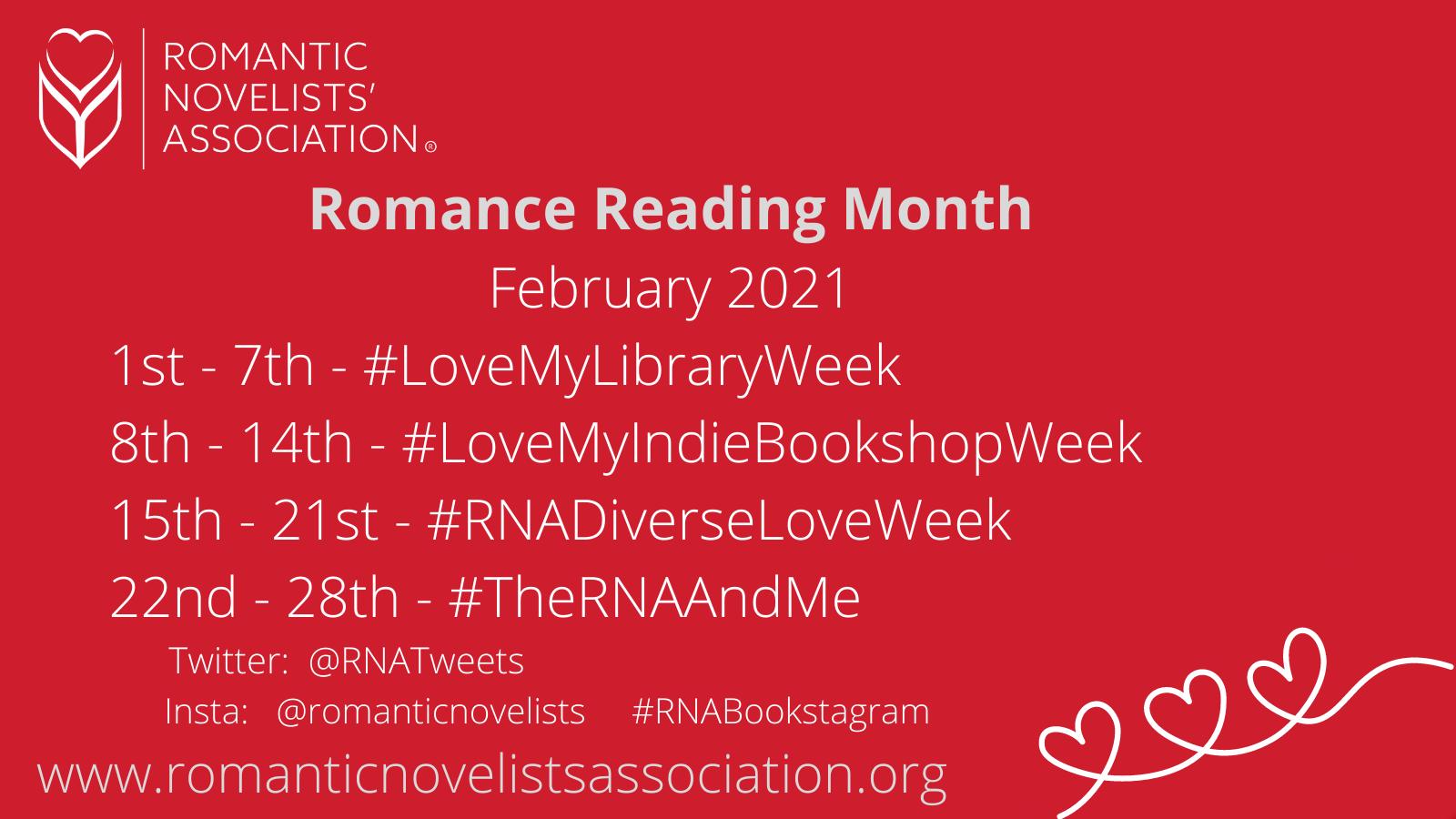 Romance Reading Month 2021