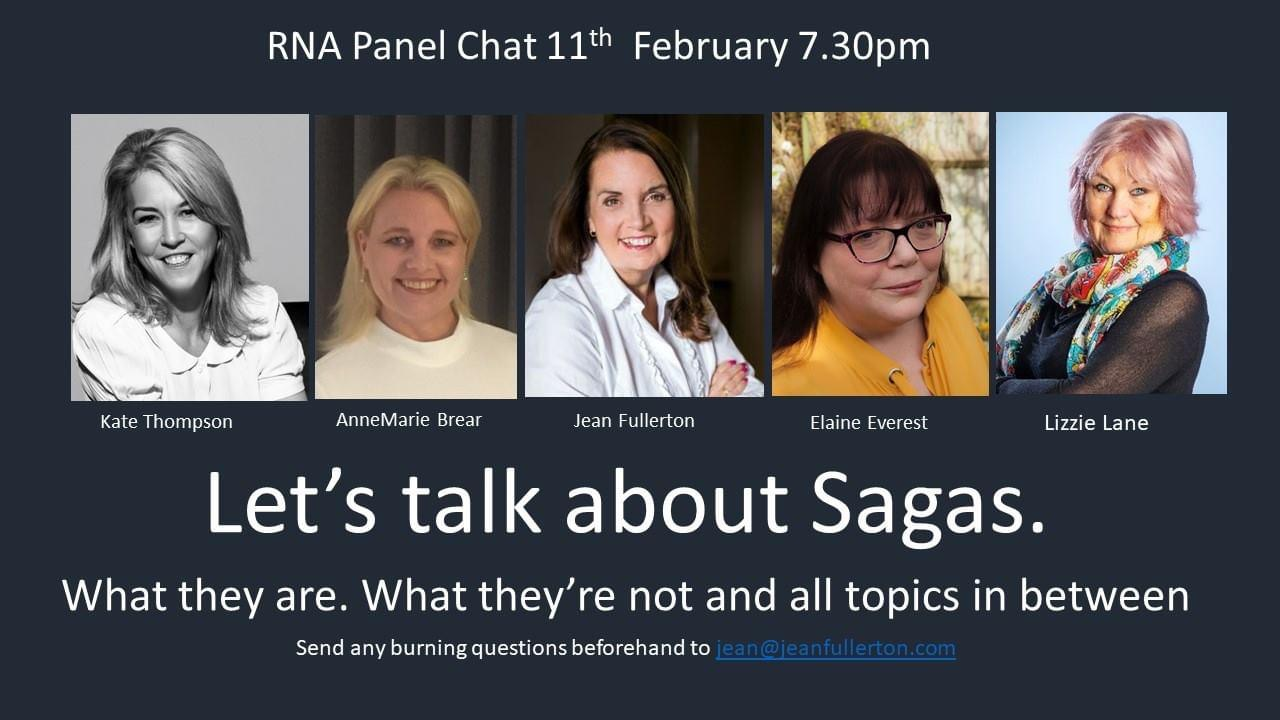 Let's Talk About Sagas. 11 Feb 2021 at 7.30pm